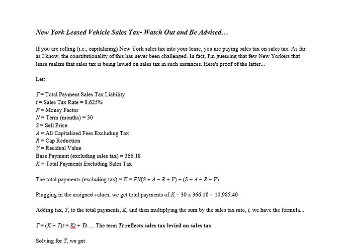 Nys Sales Tax Calculator >> How To Calculate Rolled In Lease Tax In Ny Nj Mn Ask