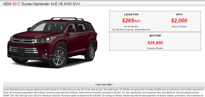 Toyota Highlander Lease >> Toyota Highlander Xle Awd Lease Deals Share Deals Tips