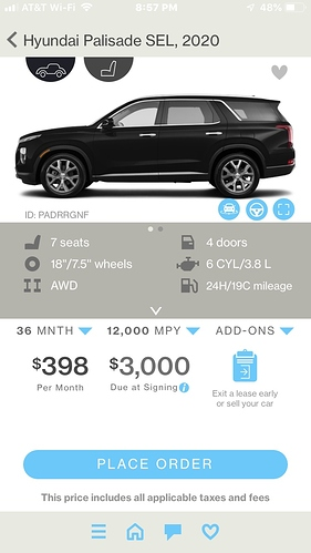 2020 Hyundai Palisade SEL Premium Sunroof - Share Deals
