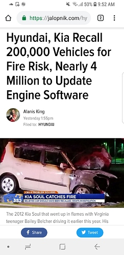 Kia catching fire (get your recalls done) - Off-Ramp