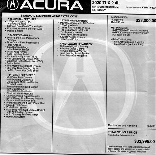 Updated 04/02! Acura Tlx Special!
