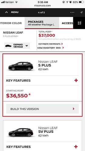 Nissan Leaf Forum >> Nissan Leaf Plus 62kw Now Available Off Ramp Leasehackr Forum