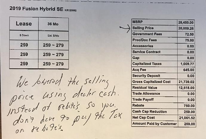 2019 Ford Fusion Hybrid Se 259 Mo Das Ask The Hackrs Leasehackr Forum