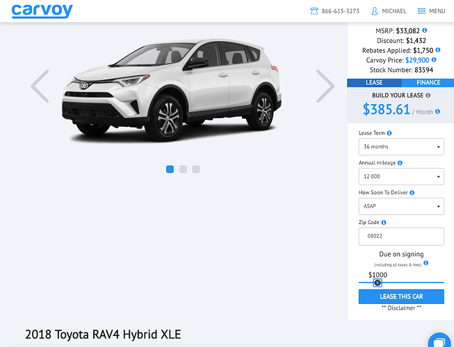 2018 Toyota RAV4 XLE Hybrid - Ask the Hackrs - Leasehackr Forum