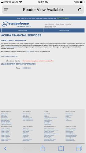Acura financial services