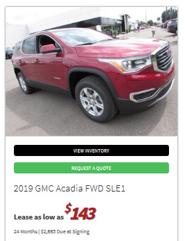 Gm Employee Discount >> 2019 GMC Acadia Lease numbers - Ask the Hackrs - Leasehackr Forum