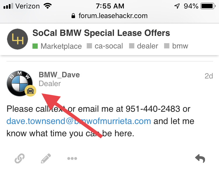 SoCal BMW Special Lease Offers - California - Leasehackr Forum